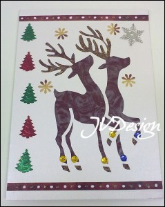 Новогодняя открытка. Скрапбукинг.